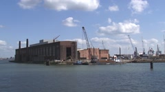 Stock Video Footage of renovation of the former shipyard Rotterdam Drydock Company (RDM)