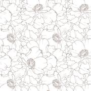 Beautiful floral seamless pattern - stock illustration