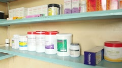 Pharmacy Kenya pull out Stock Footage