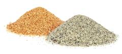Stock Photo of Piles of two colors sand for construciton
