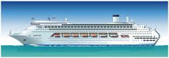 Vector hi-detailed cruise ship Stock Illustration