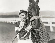 Jockey and champion - stock photo