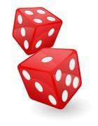 Stock Illustration of red casino dice vector illustration