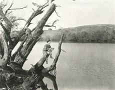 Bonding with nature - stock photo