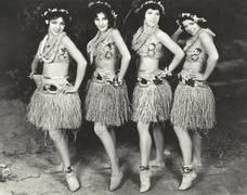 Hawaiian dancers Stock Photos