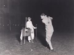 Night golf - stock photo