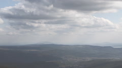 Carpathians, Mountain landscape with clouds - Time Lapse Recording video Stock Footage