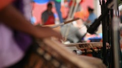 Set of Drummers - stock footage