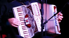 Accordion Player - stock footage