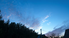 Cirrus Clouds Moving Over the Village Stock Footage