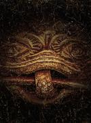 Demonic Sculpture Background - stock illustration