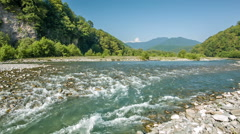 Mountain River Stream In Gorge Stock Footage
