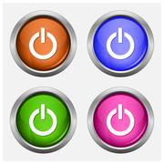 Stock Illustration of Set of isolated turn on, off glossy vector web buttons.