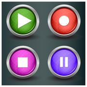 Set of isolated glossy vector web buttons. Beautiful internet buttons. - stock illustration
