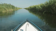 Stock Video Footage of Exploring Danube delta with a boat.
