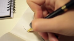 Handwriting in diary. Dear George! Stock Footage