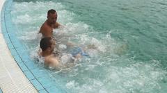 Jacuzzi aqua park amusement summer fun11 HD Stock Footage