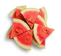 Slices of watermelon in a chaotic stack Stock Photos