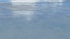 Iceberg on sea ice at Admiralty Inlet. (Tilt Up) Stock Footage