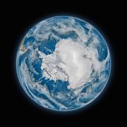 Antarctica on planet Earth - stock photo
