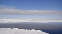 Time-Lapse landscape of floe edge with clouds moving quickly through the sky. - stock footage