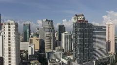 Panning Timelapse of Makati, Metro Manila - Philippines Timelapse Stock Footage