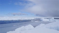 Time-Lapse of pack ice colliding with the ice floe edge. - stock footage
