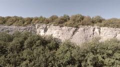 Bakhchisarai. Canyon Chufut-Kale. The camera rises. Stock Footage