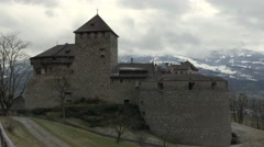 Liechtenstein pan Vaduz Castle 4K - stock footage