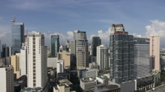 Timelapse of summer Sky over Makati, Metro Manila - Philippines. Stock Footage
