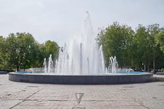 Fountain near the Goverment building - stock photo