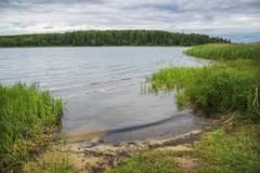 River Bay. Central Russia - stock photo