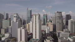 Makati Skyline on a sunny day.(Metro Manila - Philippines) Stock Footage