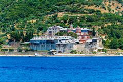 Xenofontos Monastery, Mount Athos - stock photo