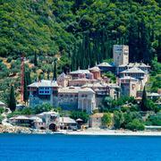 Dochiariou Monastery, Mount Athos - stock photo