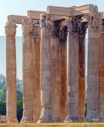 Stock Photo of Temple of Olympian Zeus,  Athens