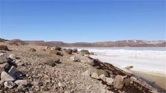 Rocky shoreline in Arctic Bay, Nunavut. Stock Footage