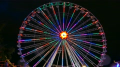 Blumenrad, Giant Wheel in the Prater, Vienna, Austria Stock Footage