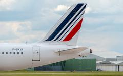 Air France Airbus A320 tail - stock photo