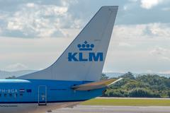 Stock Photo of KLM Royal Dutch Airlines Boeing 737 tail