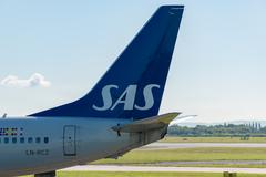 Scandinavian Airlines Tail - stock photo