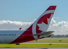 Air Canada Rouge Boeing 767 tail - stock photo