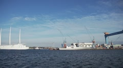 White Pearl at Dock Timelapse. Stock Footage