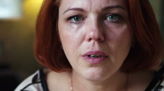Tears in the eyes of women Stock Footage