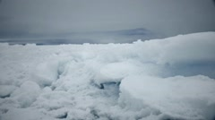 Field of built up ice floe in the Arctic ocean. - stock footage