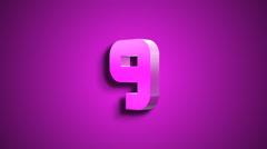 3D Digital Countdown Stock Footage