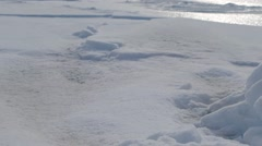 Large arctic iceberg and melt pond. Stock Footage