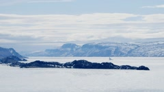 Arctic landscape and mountain range. Stock Footage