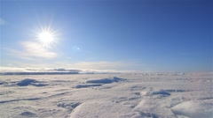 Time lapse of the weather changing in the Arctic wastes. Stock Footage