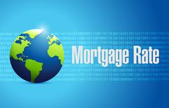 Stock Illustration of mortgage rate international sign concept